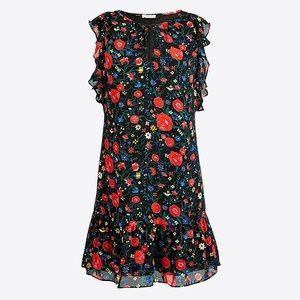 NWT J. Crew Factory Floral Flutter Sleeve Dress